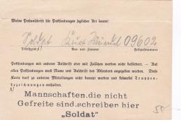 Feldpost WW2: Change Of Address - From The Start Of WW2 - 3. Fernsprech-Kompanie Korps-Nachrichten-Abteilung 44 FP 09602 - Militaria