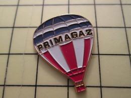 Pin910d Pin's Pins / Beau Et Rare : MONTGOLFIERE / BALLON LIBRE TRICOLORE PRIMAGAZ - Airships