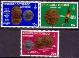 TRINIDAD & TOBAGO 1980 SG #568-70 Compl.set Used Olympic Games, Moscow - Trinidad & Tobago (1962-...)
