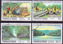 TRINIDAD & TOBAGO 1980 SG #572-75 Compl.set Used Forestry Conference - Trinidad & Tobago (1962-...)