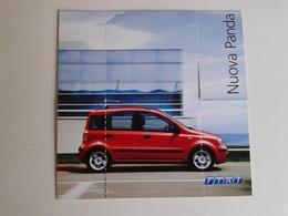 Dep027 Depliant Advertising Fiat Panda Citycar Motore Engine Auto Car Voiture Packaging Design - Automobili