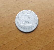RIPRODUZIONE MONETA FALSA 5 LIRE ( FALSO D'EPOCA) REP. ITALIANA DATA 19?? - - 1946-… : Repubblica