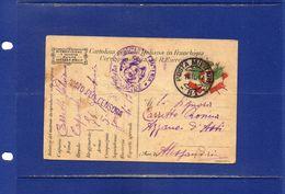 ##(DAN183)-1917-cartolina Postale In Franchigia Da 94°Reggimento Fanteria,annullo Posta Militare 81, Disegno Al Retro - Weltkrieg 1914-18