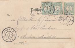 BK-29   Kaart Met Frankering Van 3 X 31a En Grootrondstempel VENLOO - Lettres & Documents