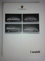 Dep035 Depliant Advertising Porsche Gamma Modelli Range Motore Engine Auto Car Voiture Design Cayenne 911 Carrera GT - Automobili