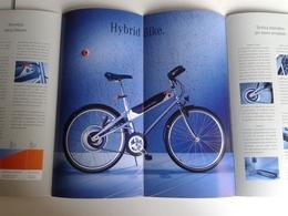 Dep035 Depliant Advertising Hybrid Bike Bicicletta Ibrida Mercedes Benz Prototipo Prototype Motor Show - Transporto