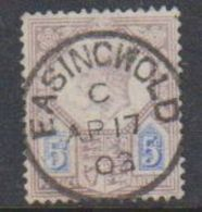 Great Britain 1902 King Edward VII 5sh  Used (nice Ca Easingwold See Scan) (38014A) - Gebruikt