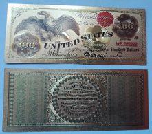 USA 100 Dollars 1863 Polymer Fantasy Gold Banknote 153 X 65 Mm - Bilglietti Degli Stati Uniti (1862-1923)