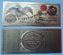 USA 100 Dollars 1863 Polymer Fantasy Gold Banknote 153 X 65 Mm - Large Size - Tamaños Grandes (...-1928)