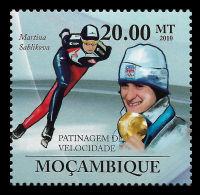 Mozambique Sáblíková Speed Skating Czech Republic 1v Stamp MNH Michel: 3745 - Non Classificati