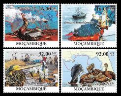 Mozambique Crude Oil Spills Birds Ship Pollution 4v Set MNH Michel: 4109-4112 - Non Classificati