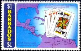 GAMES-BRIDGE-WORLD BRIDGE CHAMPIONSHIP-BARBADOS-1978-$1-MNH-B9-720 - Giochi