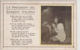 CARTOLINA - LA PREGHIERA DEL BAMBINO ITALIANO - Autres