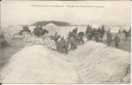 L'artillerie Montée Et Les Obstacles - Passage D'un Chemin étroit Et Encaissé, Très Bien Animée - Manovre