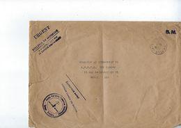 Franchise Militaire, Force Aérienne Française Combattantes, Groupe Bretagne Poste Aux Armées N° 520 En 1947 - Marcophilie (Lettres)