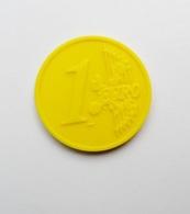 Jeton De Caddie Plastique Pièce 1 Euro Jaune - Moneda Carro