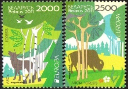 CEPT / Europa 2011 Bielorussie N° 732 Et 733 ** Les Fôrets - 2011