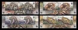 Tajikistan 2017 Mih. 755/58 Fauna. WWF. Wild Cats. Manul (with Labels) MNH ** - Tajikistan