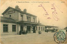 Cpa NOGENT SUR MARNE 94 La Gare De Nogent Le Perreux Bry - Nogent Sur Marne