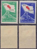 Red Cross - Additional Label Charity TRIESTE B STT VUJNA VUJA - Yugoslavia - Mi. 3+3 - 265 EUR - Red Cross