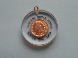 1900 - 1 CENT INDIAN HEAD / KM 90 A ( Hanger - Pendant / For Grade, Please See Photo ) !! - Émissions Fédérales