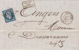 LAC Affr Y&T 14B Obl PC 1761 + TàD LORIENT Du 11 MAI 57 Adressée à Angers - Marcophilie (Lettres)