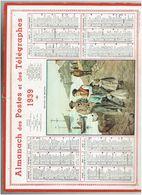 CALENDRIER ALMANACH DES POSTES ET TELEGRAPHES 1939 - Calendars