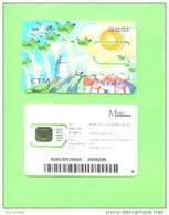 MACAU - SIM Frame Phonecard With Chip/Lighthouse And Mushrooms - Macau
