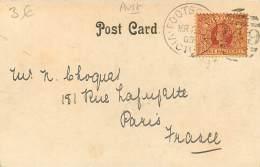 Australia - Melbourne - Houses Off Parliament, Spring St 1903 (stamp 3 Halfpence) - Melbourne