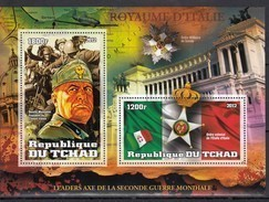 V797 2012 TCHAD WORLD LEADERS ALLIES OF WORLD WAR II WWII PRIVATE ISSUE BL MNH - 2. Weltkrieg