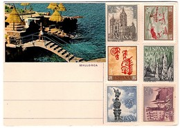 Mallorca 2 Hand Made Postcards With Real Stamps - Mallorca
