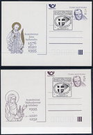 CZECH REPUBLIC 1995 Papal Visit 5 Kc.stationery Cards Cancelled With Commemorative Postmarks. Michel P14-15 - Postal Stationery