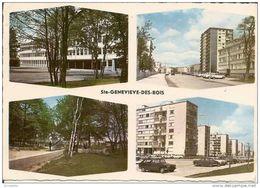 91 SAINTE  GENEVIEVE DES  BOIS  - Divers Aspects De La Ville( VOITURE  1 Panhard ,1 R16) - Sainte Genevieve Des Bois