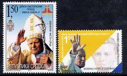 BOSNIAN SERB REPUBLIC 2003 Papal Visit MNH / **.  Michel 277-78 - Bosnia And Herzegovina