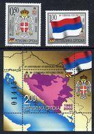 BOSNIAN SERB REPUBLIC 2002 10th Anniversary Of Bosnian Serb Republic MNH / **.  Michel 230-31, Block 5 - Bosnia And Herzegovina