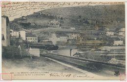 Mont-Carlo Monaco : Le Chemin De Fer à Crémaillière De Monte-Carlo à La Turbie / Thème Train Vapeur / Finiculaire - Monte-Carlo
