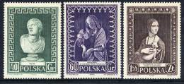 POLAND 1956 Museum Week Set MNH / **.  Michel 990-92 - 1944-.... Republic