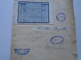PR16.3  Italia  LA SPEZIA Fed. Nazionale ZOOFILA- Teatro Civico- Asoc. Fascista Adetti  Singature,autograph  1933 - Autografi