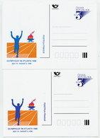CZECH REPUBLIC 1996 3 Kc. Postcard OLYMPHILEX '96 Both Types, Unused.  Michel P19-A3 - Postal Stationery