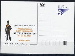 CZECH REPUBLIC 1996 3 Kc. Postcard Sindelfingen '96 Unused.  Michel P19-A5 - Postal Stationery
