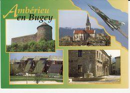 Amberieu En Bugey Le Château Des Allymes L'église  La Base Aérienne Lycée Scolaire Mairie - Otros Municipios