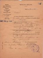 Feuillet  Acte De Pension  1921 (suite Au Décés) - Documents