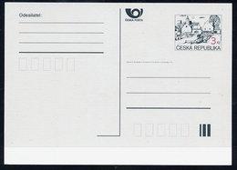 CZECH REPUBLIC 1996 3 Kc.definitive Postcard 3. Issue Unused.  Michel P6 C II - Postal Stationery