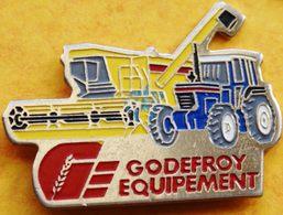BB  275 ).......TRACTEUR / ENGIN AGRICOLE / OUTILS //........GODEFROY  EQUIPEMENT..signé  FRAISSE - Pins