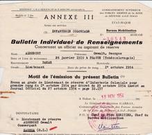 Feuillet    De Renseignements  1954 - Altri