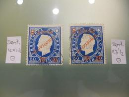 """MACAU -1894 - D.LUIS I FITA DIREITA COM SOBRECARGA """"PROVISÓRIO"""" E SOBRETAXA 50/8 DENT.12X11 1/2 AND 13 1/2 - China"""