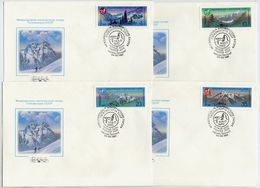 SOVIET UNION 1987 Mountaineering Set On Four FDCs.  Michel 5685-88 - 1923-1991 USSR