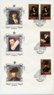 SOVIET UNION 1983 Rembrandt Painitings Set And Block On Six FDCs.  Michel 5259-63, Block 163 - 1923-1991 USSR