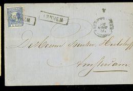 HANDGESCHREVEN BRIEF Uit 1871 Gelopen Van ARNHEM Naar AMSTERDAM * NVPH 7 * FRANCO KASTJE (10.662f) - Period 1852-1890 (Willem III)