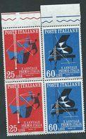 Italia 1958; Premio Italia, Concorso Radio-TV. Serie Completa In Coppie Verticali Con Bordo. - 1946-60: Mint/hinged